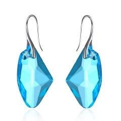 New Arrives Fashion Blue Diamond Blue Crystal Pendant Earrings for Women Jewelry blue