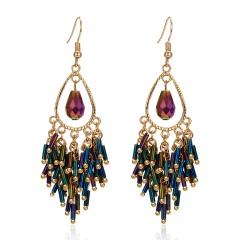 Handmade tassel earrings Purple