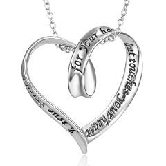 fashion silver heart pendant chain necklace jewelry heart