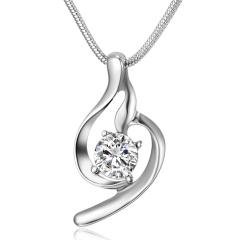 Simple hollow zircon crystal pendant necklace for women lover Zircon Necklace