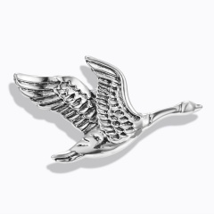 Fashion Animals Cat Dog Ancient Gold/Silver Brooch Pins Women Men Jewelry Gifts Wild goose