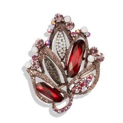 Retro Rhinestone Crystal Pearl Flower Wedding Bridal Bouquet Brooch Pin Jewelry Flower shape