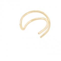 Fashion U Shaped Cross Single Hollow Sliver Ear Buckle Women Earrings Jewelry  1pc golden 1pc