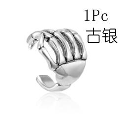 U-shaped palm single ear clip earring 1PC silver 1PC