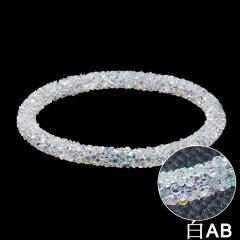 Charm Crystal Rhinestone Resin Bracelet Bangle Women Jewelry Fashion Gift Party White