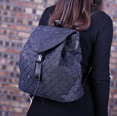 Geometry Folding Bag Travel School Bags Backpack Women Denim Girl High Students Bagpack Black