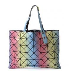Color Geometric Diamond Gradient Bag Folding One - Shoulder Handbag For Women Color