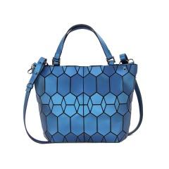 Blue Black Silver Geometric Diamond Shoulder Bag Crossbody Bag Blue 3
