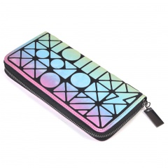 Colorful Long Zipper Hand With Change Wallet The geometric model