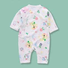 Newborn Infant Baby Boy Girls Cartoon Animals&Plants Pattern Belted Dress Jumpsuit Sleepwear Casual Summer New Born Clothes Animals&Plants 0-6 Months(52)