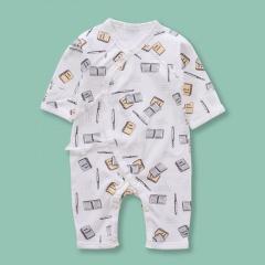 Newborn Infant Baby Boy Girls Cartoon Stationery Pattern Belted Dress Jumpsuit Sleepwear Casual Summer New Born Clothes Book&Pen 0-6 Months(52)