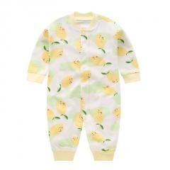 Newborn Baby Clothes Yellow Mango Print Baby Boy Romper Warm Infant Baby Boy Girl Jumpsuit Pajamas Yellow Mango 0-3 Months(59)