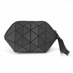 Dark Blue Black Triangle Makeup Bag, Linger Wash Bag, Bag In Hand 20*10.5*10.5cm Black