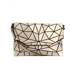 Geometric Ringer Matte Brushed Envelope, Shoulder Bag, Crossbody Bag 26*17cm Light gold