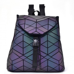 Geometric Ringer Backpack Glow-lit Backpack For Ladies 34*32.5*13.5cm Irregular triangle