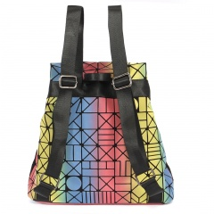 Geometric Ringer Bag Backpacks For Outdoor Travel For Students 42*31.5*13.5cm Colours