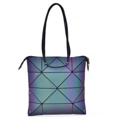 Geometric Rhombus Bag Folding Bag One Shoulder Bag 34*33cm The triangle model