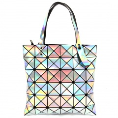 Geometric Diamond Radium Shooter Bag White