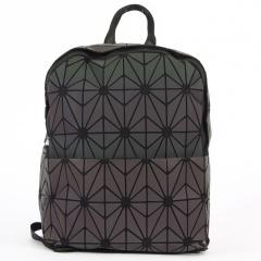 Geometric Ringer Backpack Travel Storage Bag Zipper Bag 23.5*11.5*29cm flower2