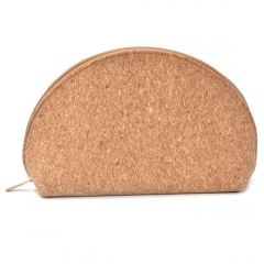 Waterproof Cork Cosmetic Storage Bag 25*15*7cm Brown