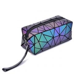 Geometric Diamond Long Square Zippered Purse Hand Bag 19.5*8.5*8.5cm Irregular triangle style