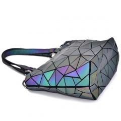 Geometric Ringer Handbag Bucket Bag 27.5*18*12cm Irregular triangle style