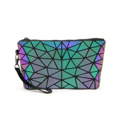 Geometric Rhombus Zippered Purse With Bag In Hand Irregular triangle style