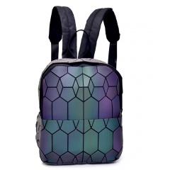 Geometric Ringer Backpack Storage Travel Student Backpack 23.5*11.5*29cm Hexagon