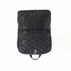 Geometric Ringer Backpack Folding Backpack Casual Computer Bag 37.5*27.5*10.5cm Black