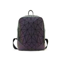 Geometric Diamond Laser Noctilucent Backpack Travel Pack 31.5*24*13.5cm Scalene triangle