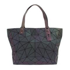 Geometric Ringer Bag Glow-lit Folding One-shoulder Handbag 43*26.5*10.5cm Scalene triangle