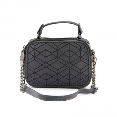 Geometric Ringer Luminous Laser Bag Single Shoulder Crossbody Bag 20*14.5*7cm Rhombus