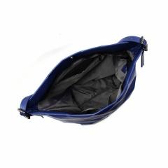 Ringer Backstrap PU Leather One-Shoulder Handbag navy-blue