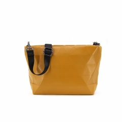 Ringer Backstrap SINGLE-Shoulder Messenger Bag Made Of PU Leather (26*16*7cm) Yellow