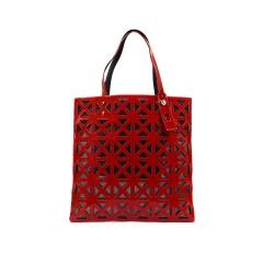 Rose-red Geometric Diamond Hollow-out Jelly Handbag 34*33m Rose-red