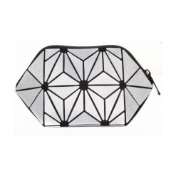 Geometric Diamond Folding Bag Cosmetic Storage Bag Hand Bag21*11*11cm silver