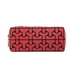 Geometric Diamond Folding Bag Cosmetic Storage Bag Hand Bag 19.5*8.5*8.5cm Red