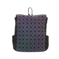 Geometric Ringer Laser Discoloration Backpack Travel Pack35*33*16.5cm The triangle model