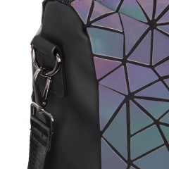 Geometric Ringer Laser Discoloration Backpack Travel Pack35*33*16.5cm Irregular triangle style