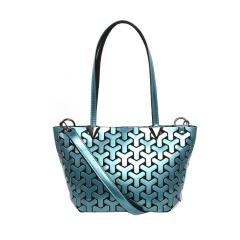 Geometric Ringer Bag Single Shoulder Bag Cross Body Bag 33.5*19*13cm Wathet blue