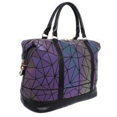Wholesale MUSSA Geometric Ringer Glow-change Travel Bag Duffel Bag Travel Bag42*20.5*37cm Black