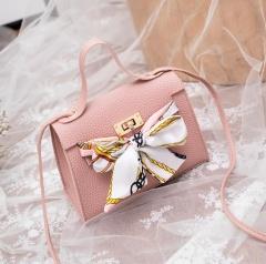 Lychee Pattern Kelly Bag Shoulder Handbag Messenger Portable Mini Mobile Phone Bag Pink