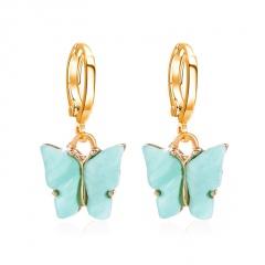 Boho Butterfly Acrylic Earrings Elegant Women Dangle Drop Earring Jewellery Gift Blue