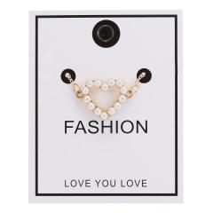 Women Pearl Heart Cross Pendant Necklace Gold Chain Choker Jewellery NEW Heart