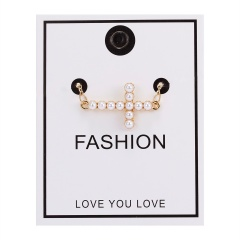 Women Pearl Heart Cross Pendant Necklace Gold Chain Choker Jewellery NEW Cross