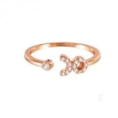Fashion 12 Constellations Zodiac Sign Rings Adjustable Cubic Zirconia Jewelry Taurus