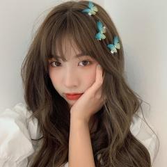 2020 Fashion Girl Butterfly Hair Clips Bridal Barrettes Hair Pins Accessories Green