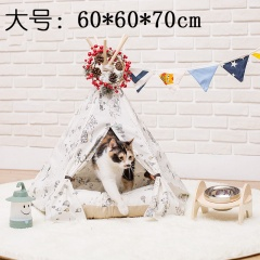 Balloon Pattern White Dog Kennel Cat Tent Pet Tent Removable And Washable Large