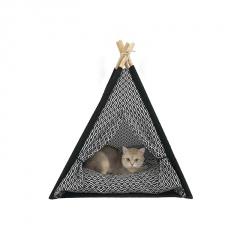 Diamond Lattice Kennel Cat Litter Pet Tent Removable And Washable Black