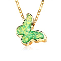 Chic Butterfly Acrylic Pendant Necklace Clavicle Choker Chain Women Jewelry New Green